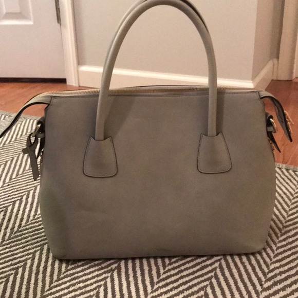 angela roi Handbags - Angela Roi Luxury vegan handbag grey gold hardware 50edba2230539